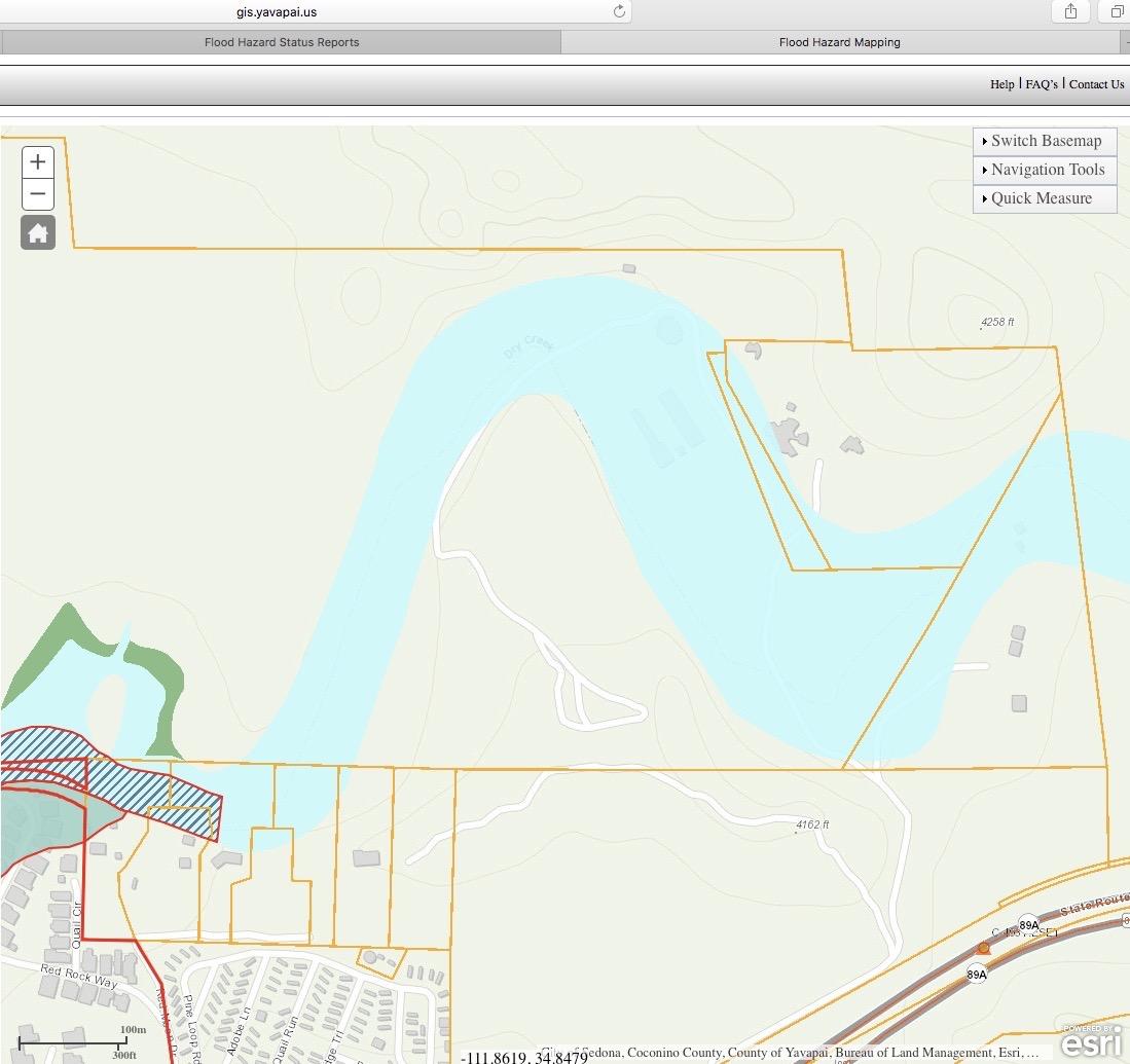 Flood Plane of El Rojo Grande Ranch gis.yavapai.us